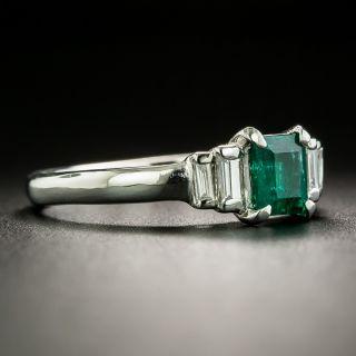 Estate .61 Carat Emerald and Diamond Ring