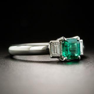 Estate .62 Carat Emerald and Diamond Ring