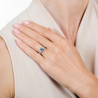 Estate .65 Carat Aquamarine and Diamond Ring