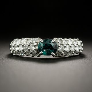 Estate .67 Carat Alexandrite and Diamond Ring - 1