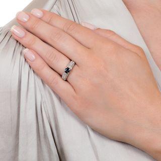 Estate .67 Carat Alexandrite and Diamond Ring