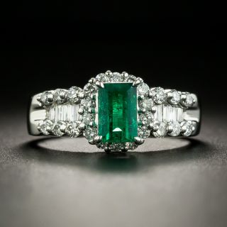 Estate .69 Carat Emerald and Diamond Ring - 1