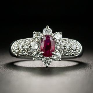 Estate .69 Carat Ruby and Diamond Ring - 1