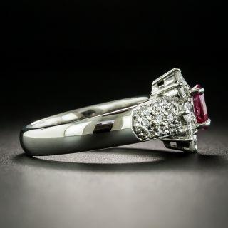 Estate .69 Carat Ruby and Diamond Ring