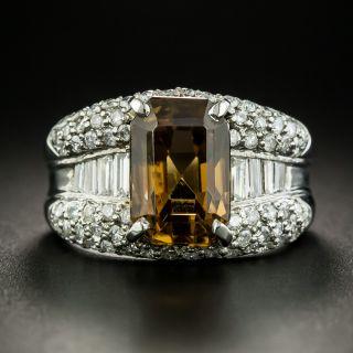 Estate 7.00 Carat Brown Zircon and Diamond Ring - 3