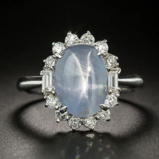 Estate 7.21 Carat Star Sapphire and Diamond Ring - 1