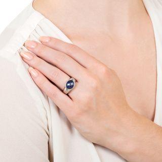 Estate 7.54 Carat Star Sapphire and Diamond Ring