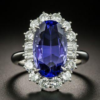 Estate 7.70 Carat Tanzanite and Diamond Ring - 2