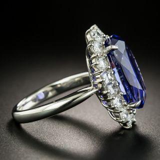 Estate 7.70 Carat Tanzanite and Diamond Ring