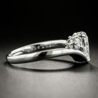 Estate .70 Carat Pear Shaped Diamond Three-Stone Ring