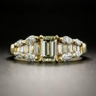 Estate .71 Carat Emerald-Cut Diamond Ring  - 2