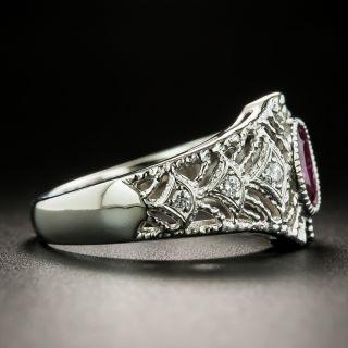 Estate .71 Carat Ruby Filigree Ring