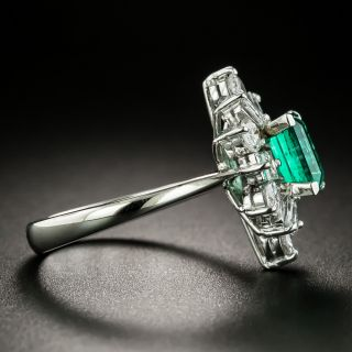 Estate .73 Carat Emerald and Diamond Ring