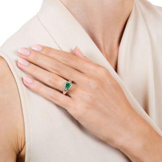 Estate .73 Carat Emerald Diamond Ring