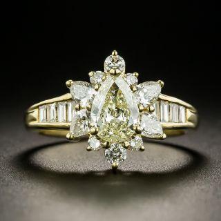 Estate .73 Carat Pear-Cut Diamond Ring - 2