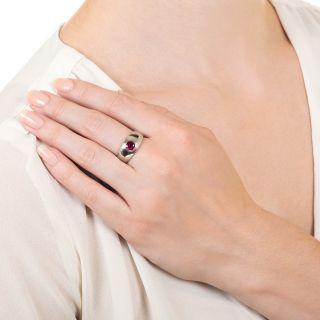 Estate .74 Carat Ruby Ring