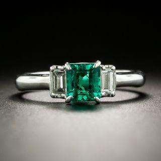 Estate .75 Carat Emerald and Diamond Ring - 2