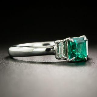 Estate .75 Carat Emerald and Diamond Ring