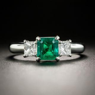 Estate .75 Carat Emerald and Diamond Ring - 1