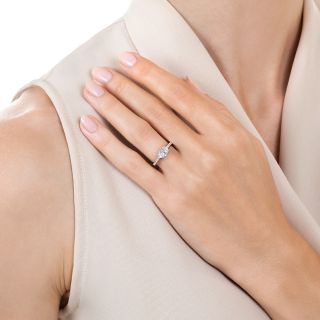 Estate .76 Oval-Cut Diamond Engagement Ring - GIA D SI1