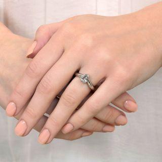 Estate .78 Carat Pear-Cut Diamond Solitaire Ring