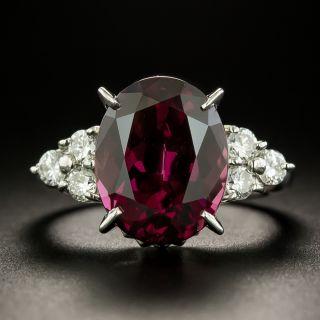 Estate 8.01 Carat Rhodolite Garnet and Diamond Ring  - 1