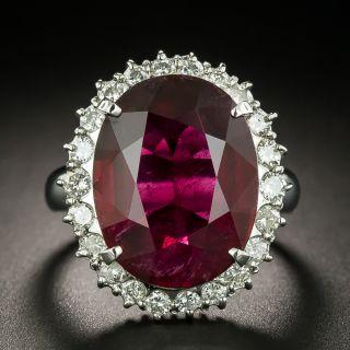 Estate 8.08 Carat Rubellite and Diamond Ring - 2