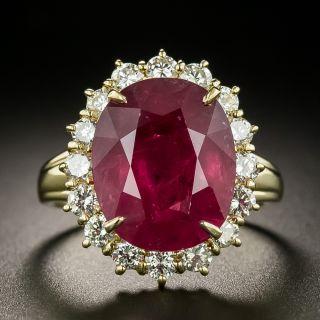 Estate 8.39 Carat Ruby and Diamond Ring - GIA - 2