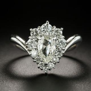 Estate .81 Pear-Cut Diamond Cluster Ring - 2
