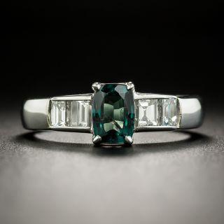Estate .82 Carat Alexandrite and Diamond Ring - 2