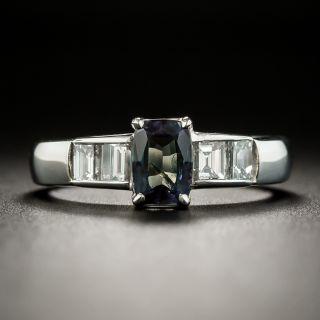 Estate .82 Carat Alexandrite and Diamond Ring