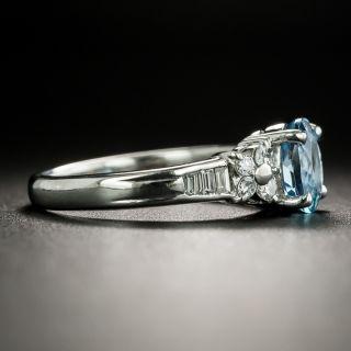 Estate .86 Carat Aquamarine and Diamond Ring