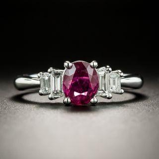 Estate .86 Carat Ruby and Diamond Ring - 3