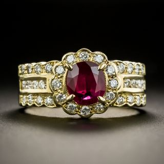 Estate .87 Carat Ruby and Diamond Ring - 2