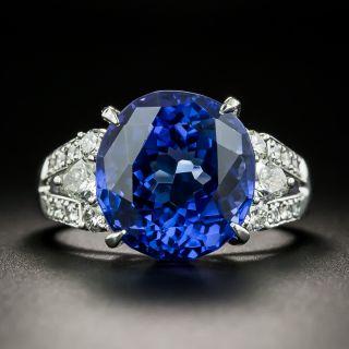 Estate 9.12 Carat Tanzanite and Diamond Ring - 1