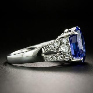 Estate 9.12 Carat Tanzanite and Diamond Ring