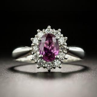 Estate .90 Carat Pink Sapphire and Diamond Halo Ring - 2