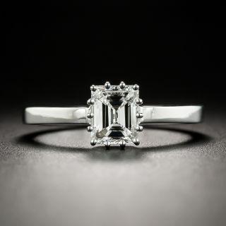 Estate .90 Ct. Emerald-Cut Diamond Platinum Solitaire Engagement Ring - GIA E VS1 - 2