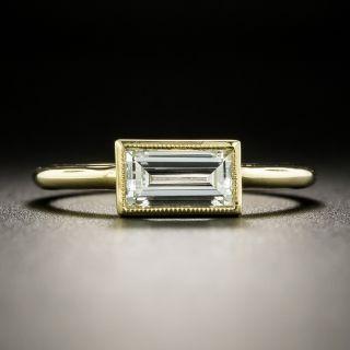 Estate .90 Emerald Cut Diamond Engagement Ring - 2