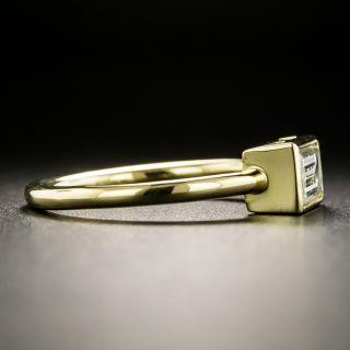 Estate .90 Emerald Cut Diamond Engagement Ring
