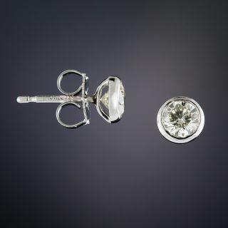 Estate .97 Carat Diamond Stud Earrings