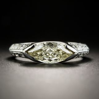 Estate .97 Carat MarquiseDiamond Ring - 1