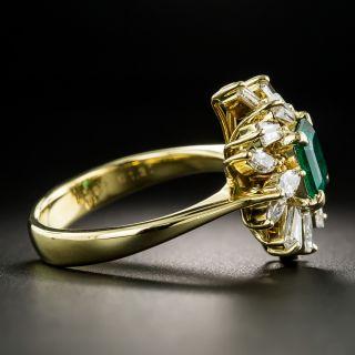 Estate .99 Carat Emerald and Diamond Spray Ring