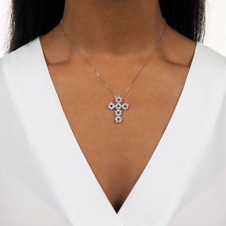 Estate Alexandrite and Diamond Cross Pendant