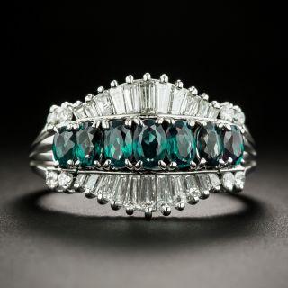 Estate Alexandrite and Diamond Ring - 3