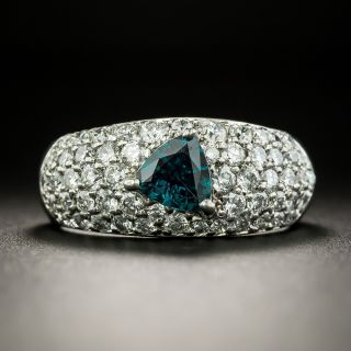 Estate Alexandrite and Diamond Ring - 2