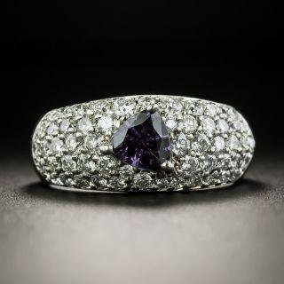 Estate Alexandrite and Diamond Ring