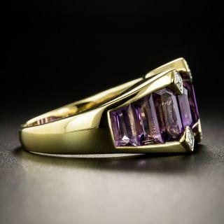 Estate Amethyst and Diamond Ring