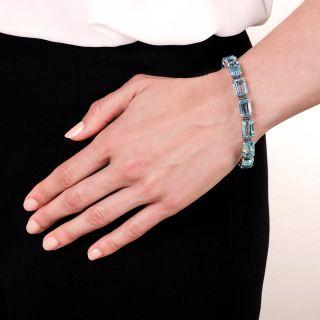 Estate Aquamarine Bracelet