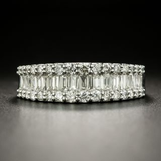 Estate Baguette and Round Diamond Band - 2